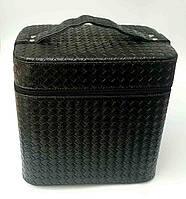 Бьюти-кейс для косметики, черный 23х23см.