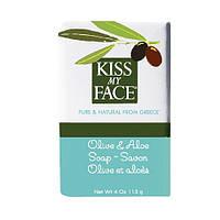Мыло Олива и Алое Kiss My Face Olive Oil Bar Soap, Olive & Aloe