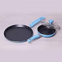 Набор сковород 14см и 22см Kamille 0615 с антипригарным покрытием