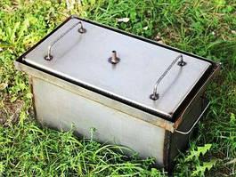 Коптильня-гриль с гидрозатвором для горячего копчения