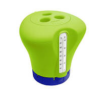 Дозатор Kokido K619BU (табл. 75 мм) зеленый с термометром (bf)