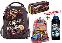 "Комплект. Рюкзак школьный каркасный Hot Wheels HW17-531M + пенал + сумка, ТМ ""Kite"""