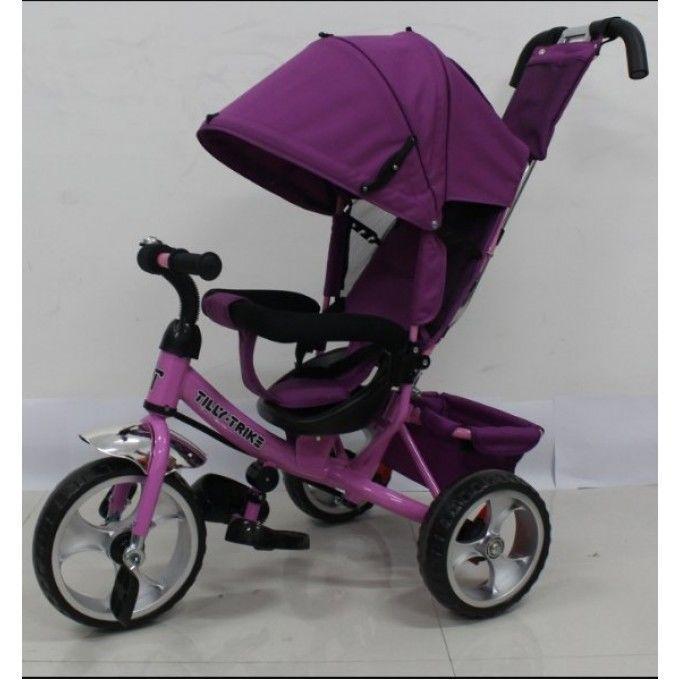 Трехколесный велосипед Tilly Trike (T-343 ФИОЛЕТОВЫЙ+РОЗОВЫЙ)