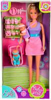Кукла Штеффи Няня в фиолетовом наряде, Steffi & Evi Love