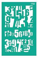 "Трафарет самоклеющийся многоразовый, 13*20см, ""Цифры"" 1750, Rosa Talent"