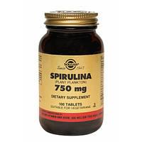 Фитопрепарат Спирулина (Spirulina) 750 мг Solgar №100
