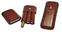 Футляр для 3-х сигар Angelo, Арт. 81307, цвет коричневый