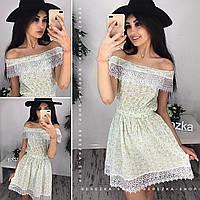 Платье женское с кружевом 33774 Платья женские летние