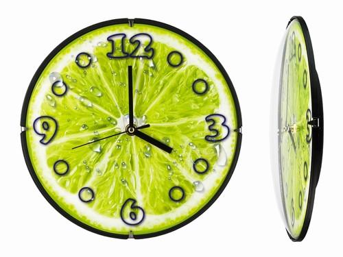 Часы настенные оригинальные для кухни Сочный лайм