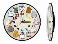Детские часы на стену круглые Веселые животные