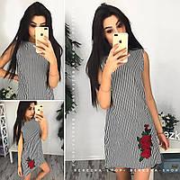 Платье женское с вышивкой в полоску 33776 Платья женские летние