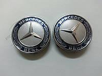 Mercedes ML klass W163 Колпачки в оригинальные диски 71 мм (синие, 4 шт)