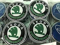 Skoda Octavia Tour A4 Колпачки в титановые диски 55 мм зеленые (4 шт)