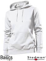 Толстовка-кенгуру женская белая SST4110