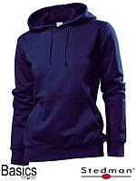Толстовка-кенгуру женская темно-синяя SST4110