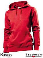 Толстовка-кенгуру женская красная SST4110
