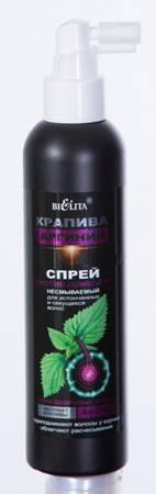 Крапива и Аргинин Спрей против ломкости несмываемый для истонченных и секущихся волос, 200 мл