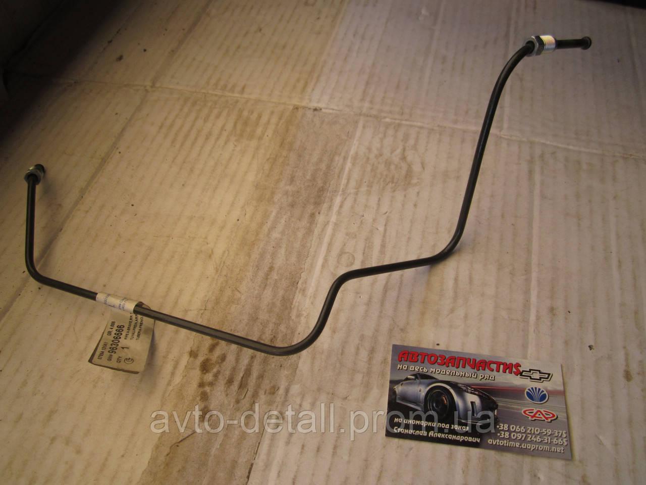 Трубка заднего тормоза правая в сборе Ланос Сенс Lanos(без ABS)GM