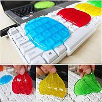 Лизун губка силиконовая для чистки клавиатуры