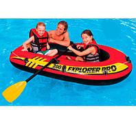 Intex Лодка надув. 58357 NP (3) Explorer 200 Pro двухместная, размером 196х102х33см