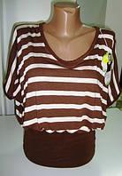 Жеская оригнальная футболка в полоску, фото 1