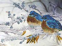 Схема для вышивки бисером Зимние птицы