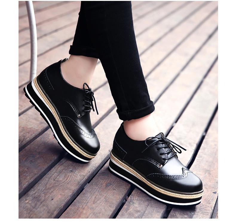 efd983e0e5aa Кожаные туфли на разноцветной платформе