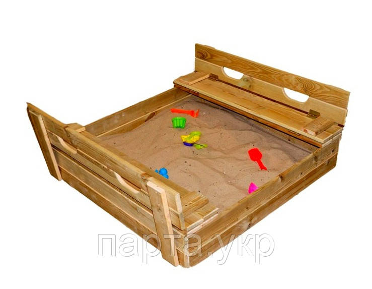 Детская песочница с крышкой 100х100 см