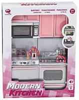 Лялькова кухня Сучасна кухня 2 рожева 27х9 5х34 5см Qun Feng Toys (26213P)