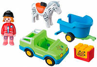 Автомобіль з причепом для коней Playmobil (6958)