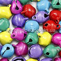 Бубенчики металлические бубенцы (цена за 25шт) 10х8мм  Цвет - МИКС
