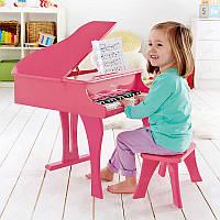 Розовое фортепиано со стульчиком HAPE (E0319)