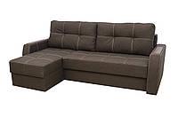 Угловой диван Garnitur Лорд коричневый 220 см