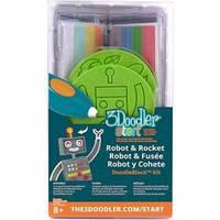 Набор аксессуаров для 3D-ручки 3Doodler Start - РАКЕТА (48 стержней, 2 шаблона)  (3DS-DBK-RO)