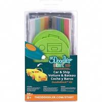 Набор аксессуаров для 3D-ручки 3Doodler Start - ТРАНСПОРТ (48 стержней, 2 шаблона)  (3DS-DBK-VE)