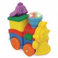 Развивающая игрушка - ПАРОВОЗИК СЛОНИКА (фигурка слоника, свет, звук) Kiddieland (053462)