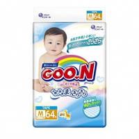 Подгузники GOO N для детей 6-11 кг (размер M, на липучках, унисекс, 64 шт) Goo.N (853075)