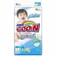 Подгузники GOO N для детей 9-14 кг (размер L, на липучках, унисекс, 54 шт) Goo.N (853076)