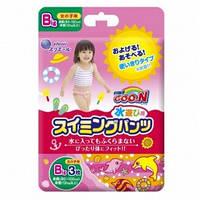 Трусики-подгузники для плавания Goo N для девочек от 12 кг, ростом 80-100 см (размер Big (XL), 3 шт) Goo.N (853037)