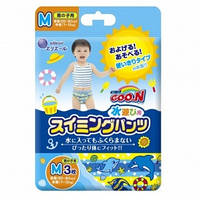 Трусики-подгузники для плавания Goo N для мальчиков 7-12 кг, ростом 60-80 см (размер M, 3 шт) Goo.N (853032)
