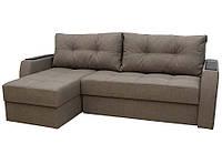 Угловой диван Garnitur.plus Лорд кремово-бежевый 220 см