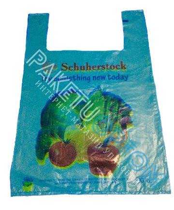 Полиэтиленовые пакеты майка с рисунком  овощи 40х60