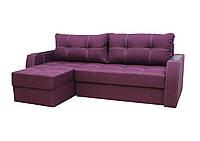 Угловой диван Garnitur Лорд фиолетовый 220 см