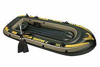 Intex Акция! Лодка надувная гребная Intex 68351 Seahawk 4. Скидка 3 % на насос, ремкомплект и аксессуары при покупке лодки! Спешите, количество товара
