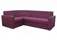 Угловой диван Garnitur.plus Элегант 2 фиолетовый 235 см, фото 1