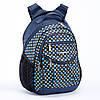 Рюкзак школьный ортопедический для девочки 3-6 класс синий Dolly 508 Горошек 30 см х 40 см х 22 см