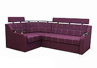 Угловой диван Garnitur.plus Элегант 3 фиолетовый 165 см