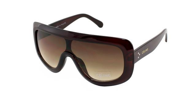 Солнечные большие очки Celine прямые сверху