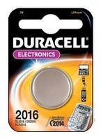 Батарейки Duracell CR2016 (DL2016) DSN Litium 1 шт.