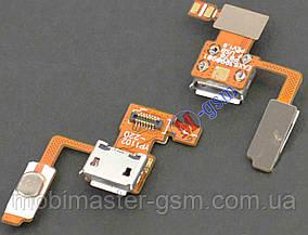 Шлейф LG P970 с коннектором зарядки и кнопкой включения